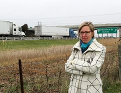 Alysson Storey, an advocate for getting a cement median built on the section of Highway 401 that runs through Chatham-Kent and Elgin County. (Ellwood Shreve/Chatham Daily News)