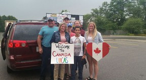 Lucas Calderon, 13, from Balboa, Spain is an exchange student from the Red Leaf Student Program. He arrived Sept. 4 and leaves Dec. 16, his family from Brussels said he has transformed into a farmer and they will miss his presence. (Submitted photo)