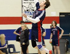 The Strathcona Christian Academy Eagles senior boys volleyball team finished fourth at 3A provincials. Photo supplied