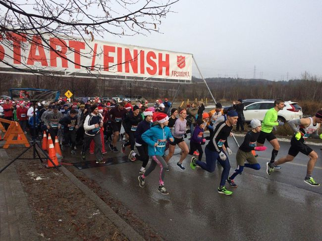 The Santa Shuffle raised close to $20,000 for the Salvation Army. Supplied photo