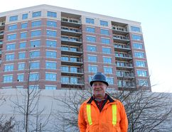 Brian Chute, site supervisor for the Boardwalk on the Thames condominium project, says the end is in sight as interior work gets going on the project in downtown Chatham.