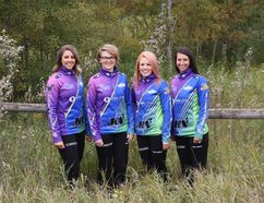 Team Silvernagle (L to R) Skip Robyn Silvernagle, third Jollene Campbell, second Dayna Demers and lead Kara Thevenot.