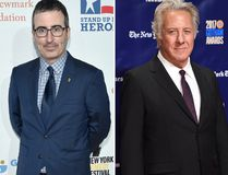John Oliver and Dustin Hoffman ( Bryan Bedder/Getty Images and Evan Agostini/Invision/AP)