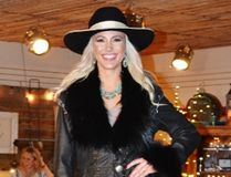 Naomi Wegleitner modelled a black beaver felt hat, donated by Vern Elliot that went for $950 in the live auction, plus an outfit and boots from Classic Rodeo Boutique. Dana Zielke photo