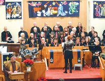 Photo by KEVIN McSHEFFREY/THE STANDARD Ann Foy directed the choir at the 2016 Christmas Cantata at Holy Trinity United Church.