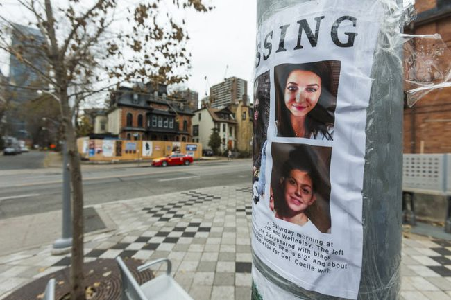 Family and friends of Tess Richey walked by the abandoned building near Church and Wellesley Sts. where she was found slain while putting up posters in the days after she went missing on Nov. 25, 2017.Ernest Doroszuk/Toronto Sun