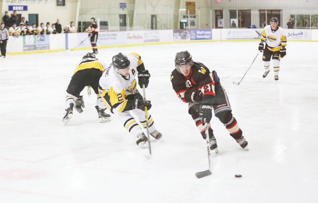 The Devon Barons' final two games before the Christmas break didn't go as planned, with the Barons dropping both games. Despite the losses, the Barons did manage to earn a point in the standings with their loss to Westlock coming in overtime. (Photos courtesy Mik Okheena)