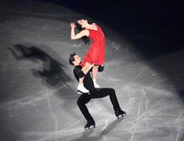 Canada's Tessa Virtue and Scott Moir perform during the gala exhibition at the Grand Prix of Figure Skating final in Nagoya on December 10, 2017. / AFP PHOTO / Toshifumi KITAMURATOSHIFUMI KITAMURA/AFP/Getty Images