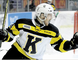 Kingston Frontenacs forward Matt Hotchkiss celebrates his second goal of the game during the second period of Ontario Hockey League action at the Rogers K-Rock Centre on Saturday night. The Kingston Frontenacs defeated the Sudbury Wolves, 3-2. (Steph Crosier/The Whig-Standard)