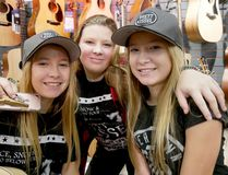 Small Town Girls, from left Haley, Cassie and Hannah Van Maele, will be opening for Brett Kissel in North Bay on Feb. 23, 2018. The Langton girls were one of nine winners of a Kick It With Kissel social media contest. (Chris Abbott/Tillsonburg News)