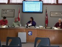 Town of South Bruce Peninsula council budget deliberations, at the town hall in Wiarton, Nov. 29. Photo by Zoe Kessler/Wiarton Echo