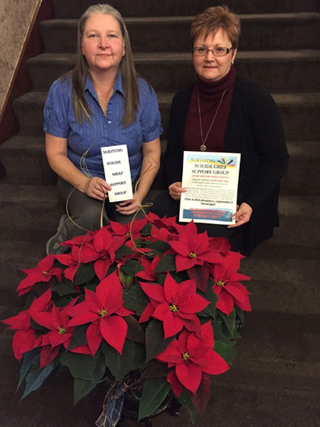 Woodstock grief specialists Vicki Travnicek and Nicole Bruder facilitate the Surviving Suicide Grief Support Group in Woodstock. (HEATHER RIVERS/SENTINEL-REVIEW)