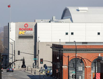 The Rogers K-Rock Centre is to be under new management after Toronto-based private equity company Onex Corp. announced Monday the purchase of SMG Canada's American parent company, SMG Holdings Inc., for an undisclosed sum. (Whig-Standard file photo)