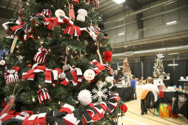 The centrepiece of the Anzac Christmas Market was a Christmas tree decorated with handmade ornament from students at Anzac's Bill Woodward School. Funds raised from the silent auction on the trees will go to support various programs at the school.