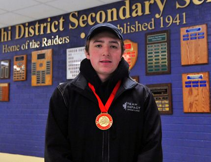Delhi wrestler Garett Sales (19) recently won gold at the 2017 Ontario Senior Championship in Kitchener. After finishing second last year, Sales captured the 65kg division crown in late November. JACOB ROBINSON/Simcoe Reformer