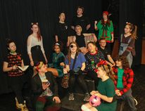 The cast and crew of the The Naughty List: A Crooked Children Christmas, pose for a photo in character on the stage at Kingston Collegiate in Kingston, Ont. on Thursday December 7, 2017. For one night only, admission by monetary donation, the performance will be one of the Theatre Complete students final exams, while also giving back to children in need, with 100% of the donations being giving to University Hospitals Kingston Foundation. Julia McKay/The Whig-Standard/Postmedia Network