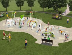 Carman's splash pad project, which will follow the design above, has received a $50,000 grant. Construction on the new aquatic facility started this fall and is expected to be finished (upon completion of fundraising) next year. (SUPPLIED PHOTO)