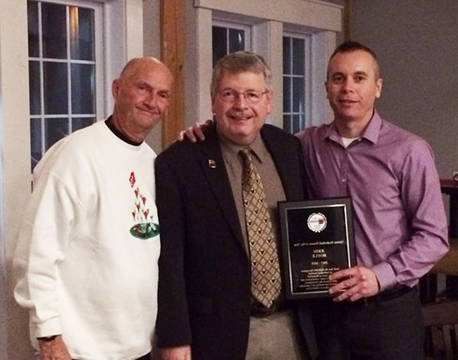 From left: BQBABO Life Member Bill Latchford, new Life Member John Boyle and BQBABO president Darrell McGrath. (Submitted photo)