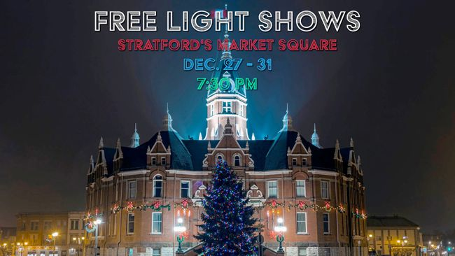 As a lead-up to its New Year's celebrations, 27 Marketplace will host six nightly laser light shows in Market Square from Dec. 27-31. (Contributed photo)