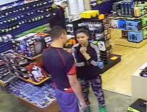 RCMP are on the lookout for suspects in a solen card event at Enguard PC in Hanna. (Supplied)