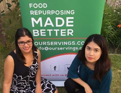 PHOTO SUPPLIED - Ria Rana and Mursal Khedri are raising money to operate a discount online marketplace for excess food.
