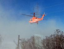 Ornge Air Ambulance responds to a helicopter crash near Tweed, Ont. on Thursday, Dec. 14, 2017. Photo supplied by Kim Clayton