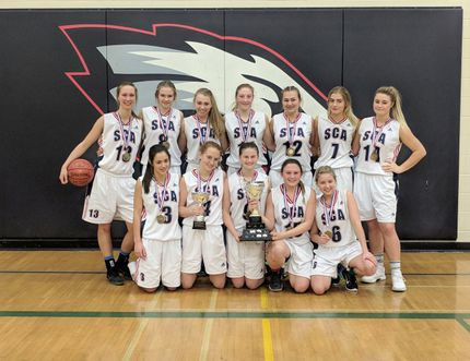 The SCA Eagles girls basketball team. Photo supplied