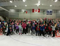 Two-hundred ice skating enthusiasts of all ages came together at the Central Huron Eastlink Arena in Clinton this past Sunday afternoon to welcome winter and take part in festivities for National Skating Day and the conclusion of the municipality's Canada 150 celebrations. (PHOTO BY ANGELA SMITH/CENTRAL HURON COMMUNITY IMPROVEMENT CO-ORDINATOR)