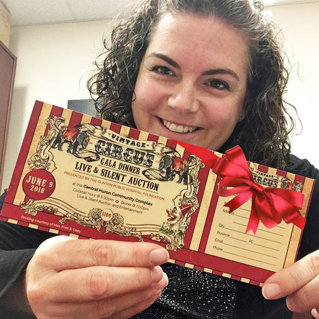 Clinton Public Hospital Foundation 2018 Gala tickets are here just in time for that special person on your gift list this year! Darlene McCowan (pictured), Clinton Public Hospital Foundation Co-ordinator is delighted to already have hers.