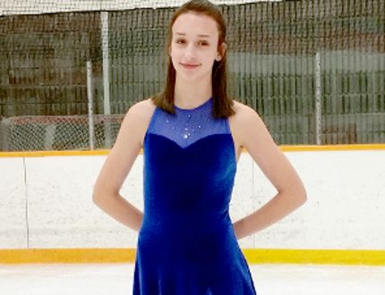 Gabriella Schaffner, of the Timmins Porcupine Figure Skating Club, achieved two Skate Canada gold medals during a Regional High Test Day recently held in Timmins. She passed her final Gold Dance — the Westminster Waltz — and her Gold Interpretive test for her powerful and passionate rendition of Hallelujah. SUBMITTED PHOTO