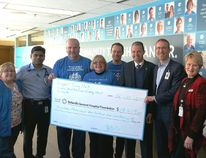 Submitted photo Belleville General Hospital Foundation received a cheque for $18,419 this week which will go toward the oncology department at Belleville General Hospital. The funds were raised by the Shoppers Drug Marts on Dundas Street East and Sidney Street.