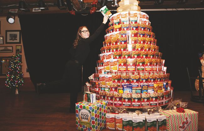 Leading up to Christmas Day dinner, Blackjacks will be hosting a Stuff the Tree campaign to fill a tree and the stage it rests on with items needed at the Leduc and District Food Bank.