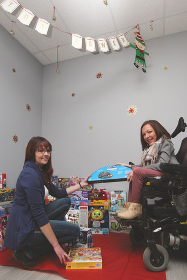 KASSIDY CHRISTENSEN HIGH RIVER TIMES/POSTMEDIA NETWORK. The Foothills Toy Tower has set up shop at the Emerson Lane Mall and will be accepting item and monetary donations until Dec. 21.