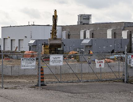 A $7.4 million expansion to the Emblem Cannabis facility on Woodslee Avenue in Paris is underway. Brian Thompson/The Expositor