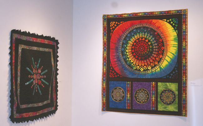 "Art Gallery of Algoma presents the exhibition Splendor of Thread and Fabric, which opened Friday, Dec. 15. This exhibition marks the 25th anniversary of the Sault's Stitches from the Heart Quilt Guild. It depicts a cross section of different styles and techniques used by members of the Quilt Guild. Over 20 members of the guild are represented in the exhibition. The exhibition runs until Jan. 20. Above is Lily Kangas work, titled ""My stained glass window"" 2017. It's the first time shown. The work took Kangas three years to complete this jewel embellished quilt made of her ""favourite colours"""