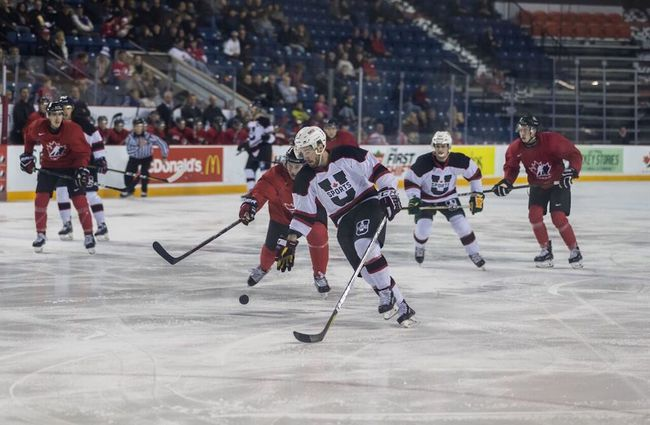PHOTO SUPPLIED -  Three Alberta Golden Bears played an instrumental part in the U-Sports hockey team's two-game sweep over the national junior team hopefuls.