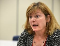 Edmonton Public school board chairwoman Michelle Draper questions how effective reducing travel and professional development will be to cutting school district costs.