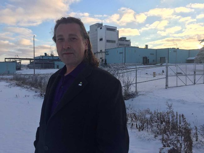 Woodstock Mayor Trevor Birtch is shown near the moribund Firestone textile factory in his city, which will begin closing in stages Jan. 1, ending an 80-year company run in Woodstock. Heather Rivers/Woodstock Sentinel-Review/Postmedia News