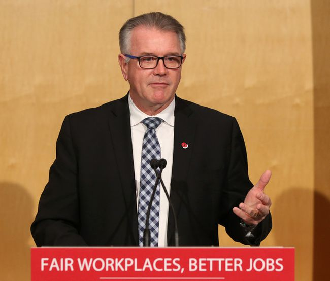 Kevin Flynn, Minister of Labour talks at the Somerset West Community Health Centre on Nov. 08, 2017.Photo by Jean Levac