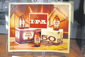 Labatt IPA in a stubby bottle takes centre stage with Blue and 50 in this corporate product photo. It's part of the Labatt collection at the Western University archives. (Wayne Newton/Special to Postmedia News)
