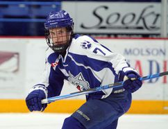 Sudbury Nickel Capital Wolves forward Joe Mazur takes part in Great North Midget League action against the Timmins Majors at Sudbury Community Arena on Saturday, December 2, 2017. Mazur was picked by the OHL's Sudbury Wolves in the 2017 OHL Priority Selection draft. Ben Leeson/The Sudbury Star/Postmedia Network