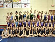 Some of the gymnasts from the Sherwood Park Salto club. Photo supplied