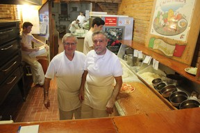 Tony Lattanzio, left, and his brother Val will be retiring soon and closing up Capri Pizza in St. Thomas. It's one of four businesses closing in the downtown core, but the downtown development board chair Earl Taylor says it's not indicative of a negative trend. (Laura Broadley/Times-Journal)