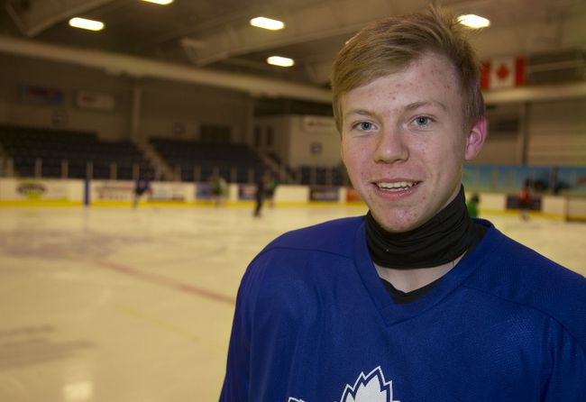 Luke Drewitt has worked his way into the London Nationals plans with nine goals and 22 points in 32 games. (MIKE HENSEN, The London Free Press)
