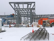 More than 90% of the structural steel has been erected at Northern College where the new emergency services complex is under construction. LEN GILLIS / Postmedia Network