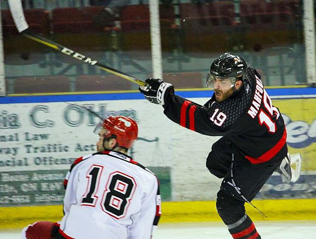 Ahmed Mahfouz is second in scoring with the Cornwall Nationals, behind Maxime Guyon. He is also second in scoring in the entire FHL. Handout/Cornwall Standard-Freeholder