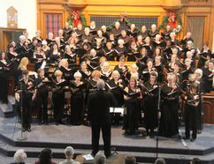"""Over 500 people attended the Pembroke Community Choir's sold-out performance """"A Celtic Christmas"""" at Calvin United Church this past December. Now the choir is thinking ahead to its spring rehearsals. """"A Wedding Invitation"""" is the theme of its spring concert and the choir is welcoming new members this January. Gerald LaRonde, musical director, has chosen a variety of wedding-themed royal anthems, Broadway melodies, and modern pop songs for the 80-voice choir. They will be starting Monday night practices with registration and rehearsal at 6:30 p.m. on Monday, January 8 at Wesley Community Church."""