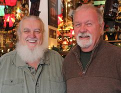 Former Kingston Brewing Company business partners Van-Allen Turner, left, and Richard Cilles, are seen at the pub on Clarence Street on Sunday. Turner retired from the company in October 2016 and Cilles joined him at the end of 2017. (Steph Crosier/The Whig-Standard/Postmedia Network)