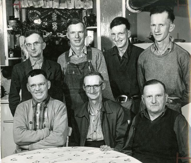The House brothers were a one-time phenomena, an international sensation, and local legends in their own right. Six of the seven House brothers continued to farm near Port Stanley in 1962, when this photo was taken. Sitting: Clarence, Bill and Vern; standing George, Earl, Raymond and Lee. (File photo)