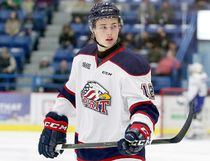 Timmins native Danny Katic, shown here during a game against the Wolves at the Sudbury Arena on Jan. 20, 2017, is enjoying a solid rookie season with the OHL's Saginaw Spirit. Katic is one of three Timmins products currently playing in the OHL. He is joined by fellow Timmins native Phil Caron, who plays defence for the OHL-leading Soo Greyhounds, and Iroquois Falls born Chad Denault, a forward with the Peterborough Petes. All three are former members of the NOBHL's Timmins Eagles (now North Stars).  JOHN LAPPA/POSTMEDIA NETWORK